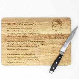 W.B.Yeats chopping board