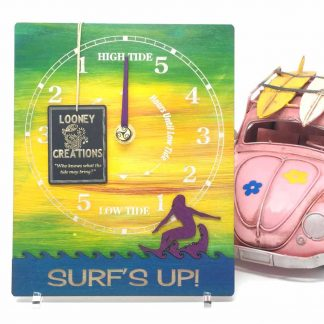 surfer girl tide clock
