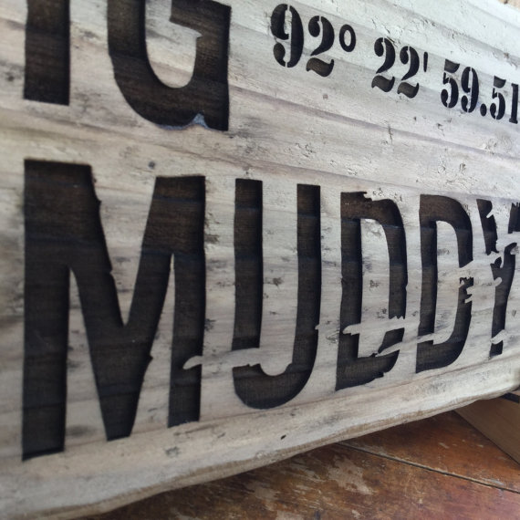 Longitude Latitude Driftwood Sign Unique Gifts Ideas Online Personalized Gifts Foursprungducks